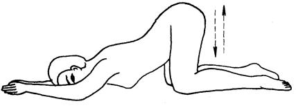 屈膝卧位法图解_子宫下垂的推拿疗法_百病推拿_中医中药网