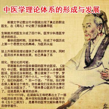 中医学理论体系的形成与发展